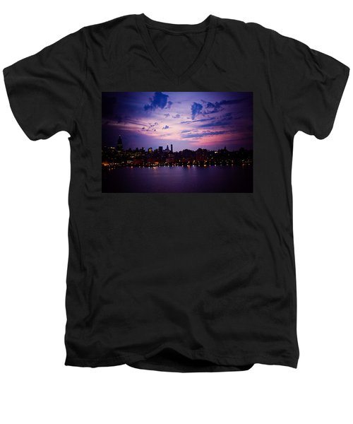 Men's V-Neck T-Shirt featuring the photograph Morning Glory by Sara Frank