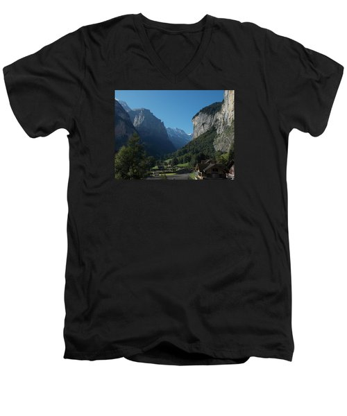 Morning In Lauterbrunnen Men's V-Neck T-Shirt