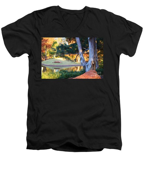 Morning In The Park Men's V-Neck T-Shirt