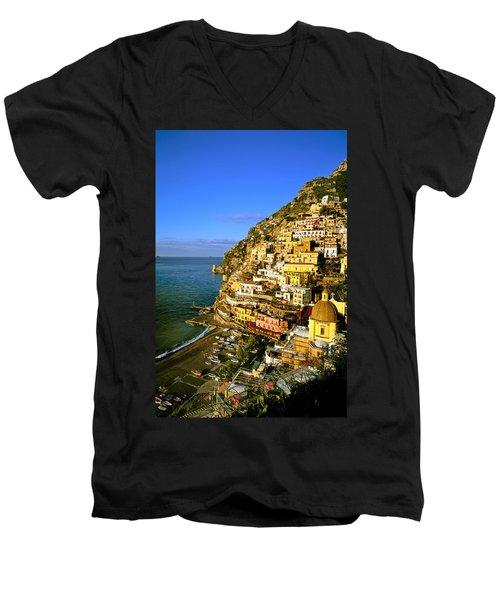 Morning Light Positano Italy Men's V-Neck T-Shirt