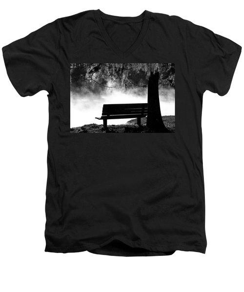 Morning Mist At The Spring Men's V-Neck T-Shirt
