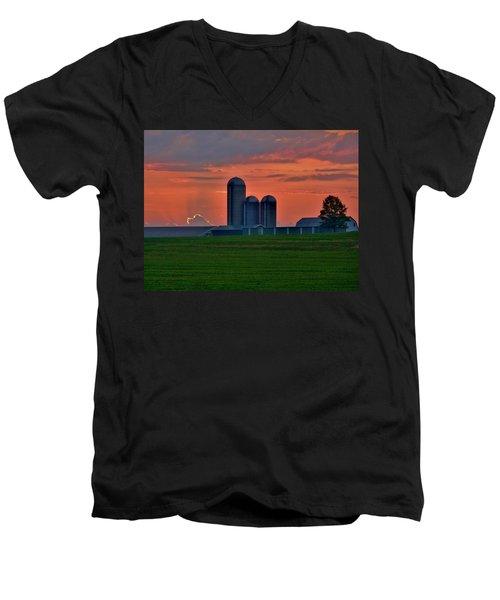 Morning Promise Men's V-Neck T-Shirt by Robert Geary