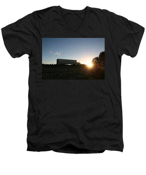 Men's V-Neck T-Shirt featuring the photograph Morning Run by David S Reynolds