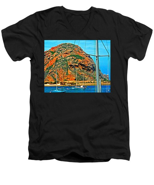 Moro Bay Sailing Boats Men's V-Neck T-Shirt