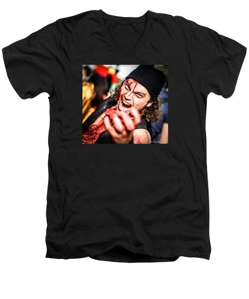Men's V-Neck T-Shirt featuring the photograph Mortal Defeat by Stwayne Keubrick