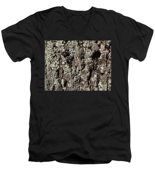 Men's V-Neck T-Shirt featuring the photograph Moss And Lichens by Jason Williamson