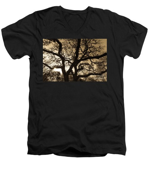 Men's V-Neck T-Shirt featuring the photograph Mother Nature's Design by John Wadleigh