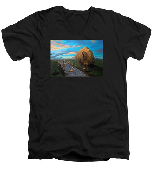 Mother Of Anguishes  Men's V-Neck T-Shirt by Lazaro Hurtado