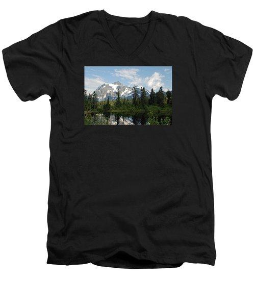 Mount Baker  Men's V-Neck T-Shirt