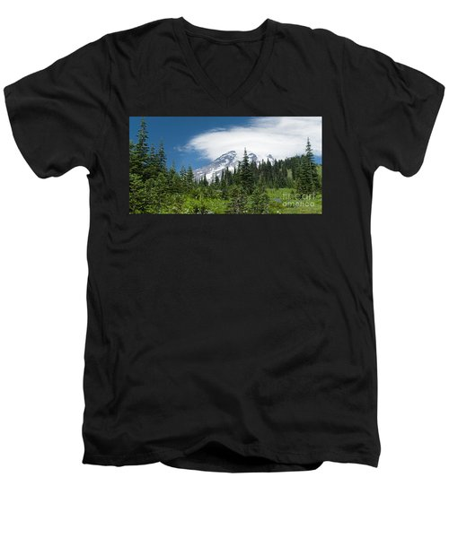 Mount Rainier Forest Men's V-Neck T-Shirt