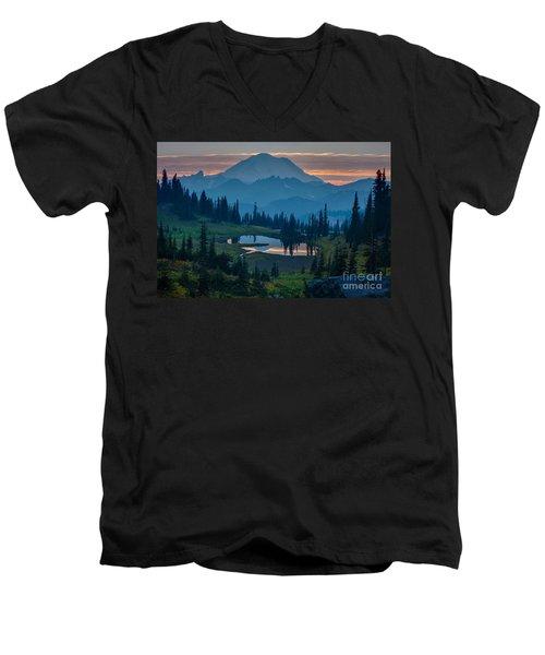 Mount Rainier Layers Men's V-Neck T-Shirt