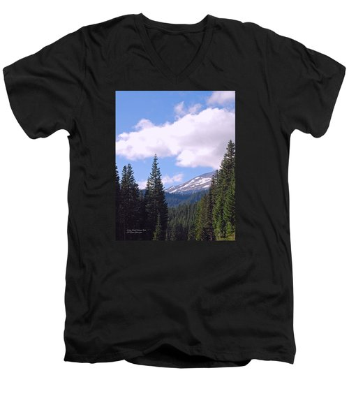 Mount Rainier National Park Men's V-Neck T-Shirt by Connie Fox