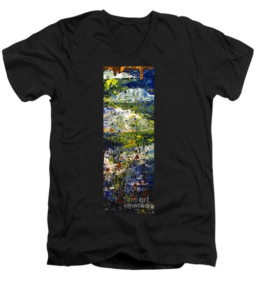 Mountain Creek Men's V-Neck T-Shirt by Jacqueline Athmann