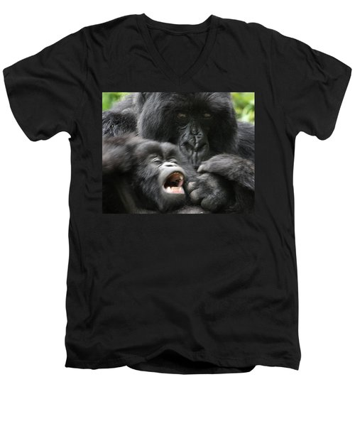 Mountain Gorilla Adf2 Men's V-Neck T-Shirt