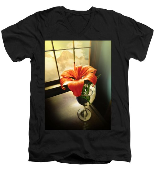 Mountain Lily Men's V-Neck T-Shirt