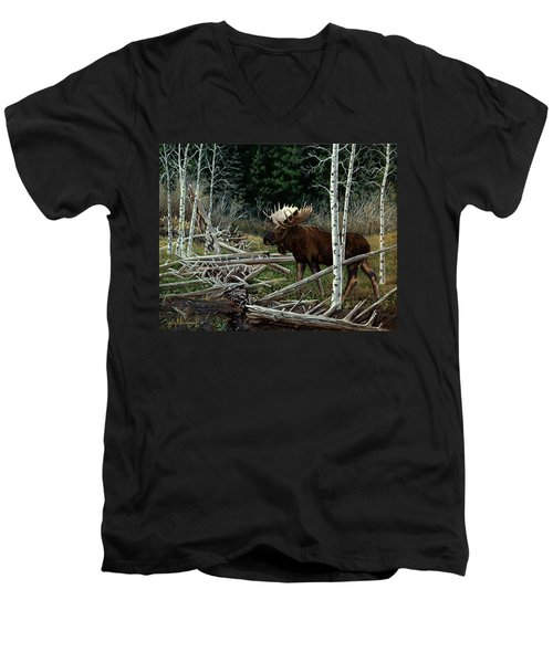 Mountain Monarch Men's V-Neck T-Shirt