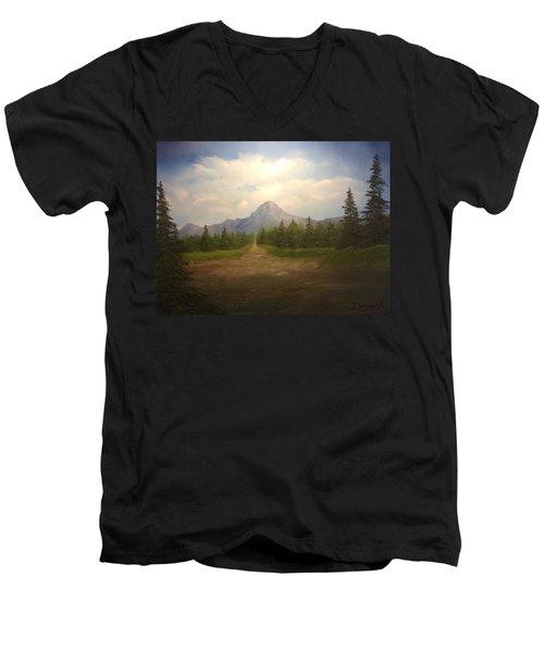 Mountain Run Road  Men's V-Neck T-Shirt