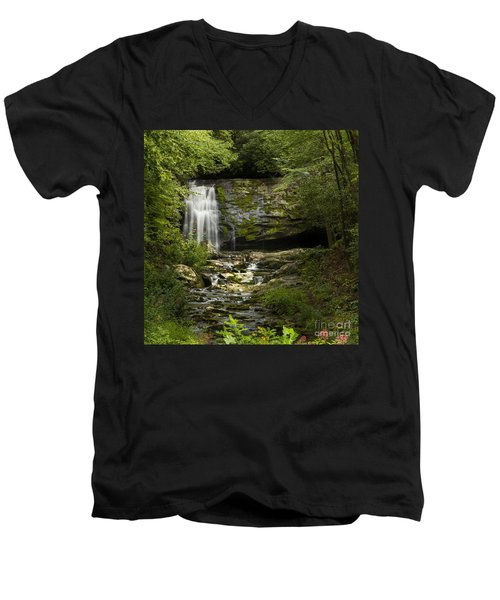 Mountain Stream Falls Men's V-Neck T-Shirt