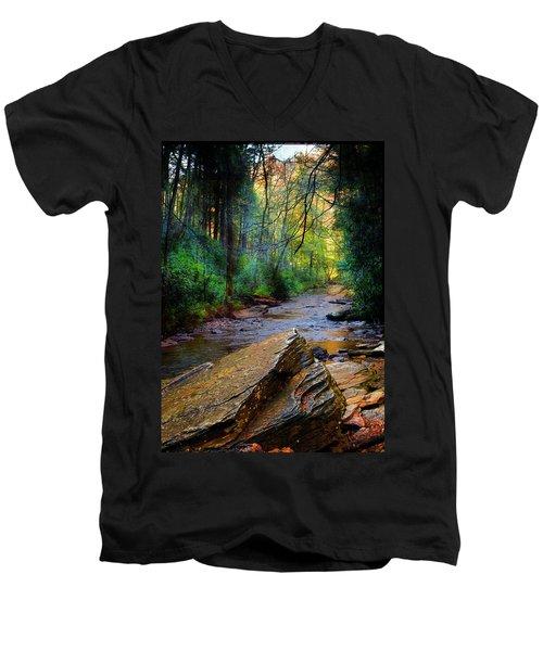 Mountain Stream N.c. Men's V-Neck T-Shirt
