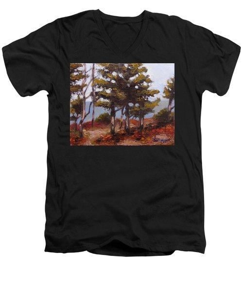 Mountain Top Pines Men's V-Neck T-Shirt