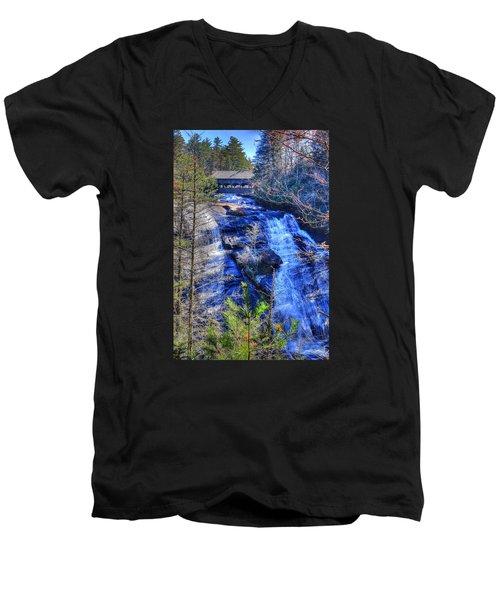 Mountain Waterfall Men's V-Neck T-Shirt