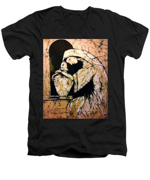 Mourning Angel Men's V-Neck T-Shirt