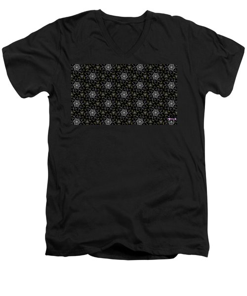 Men's V-Neck T-Shirt featuring the digital art Mourning Weave by Elizabeth McTaggart