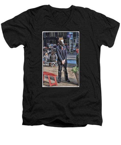 Mr. Ed Men's V-Neck T-Shirt by Mike Martin