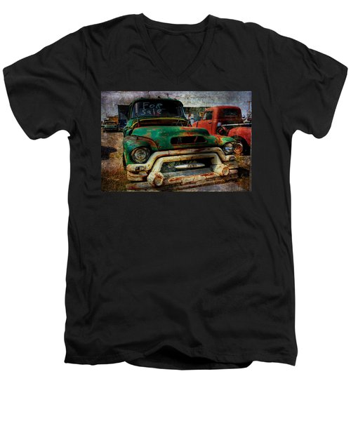 Mr Green 4 Sale Men's V-Neck T-Shirt by Toni Hopper