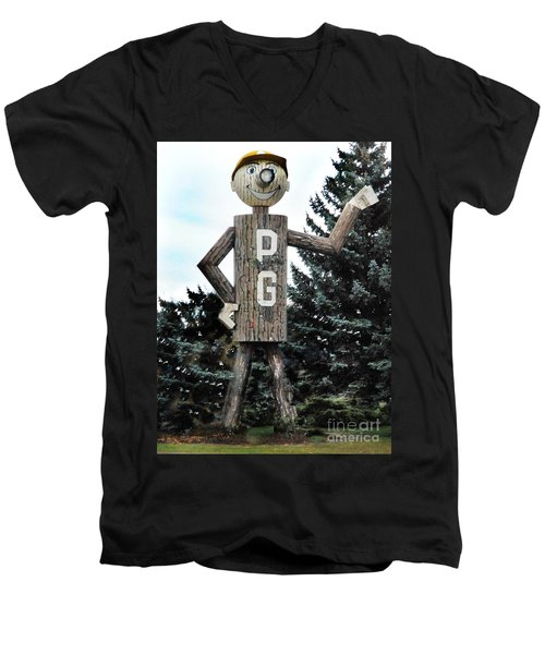 Mr. Pg Men's V-Neck T-Shirt