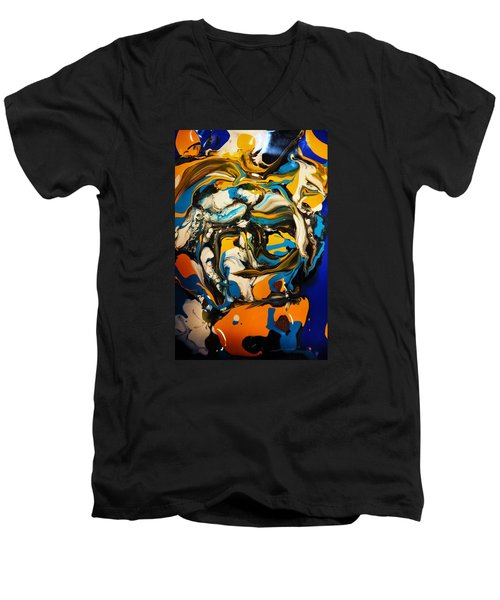 Mr. Rainbow With A Fried Egg Sunny Side Up Men's V-Neck T-Shirt by Kicking Bear  Productions