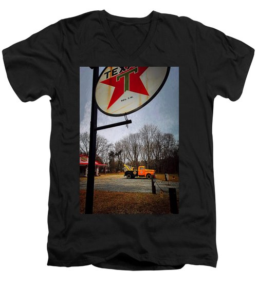 Mr. Towed's Magical Ride Men's V-Neck T-Shirt by Robert McCubbin