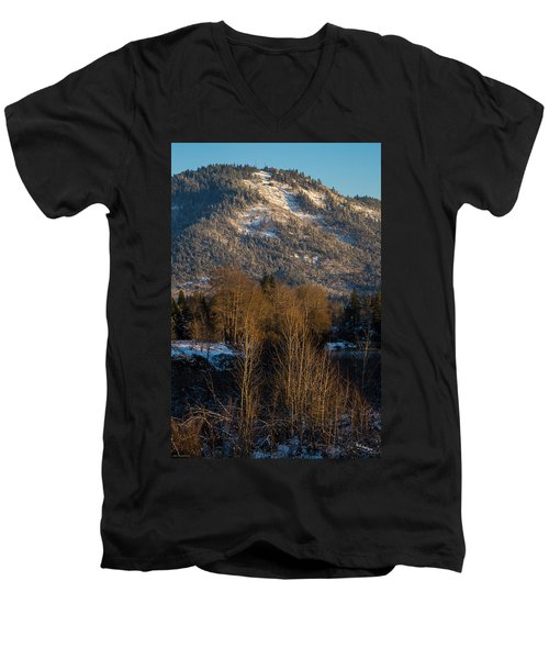 Mt Baldy Near Grants Pass Men's V-Neck T-Shirt by Mick Anderson