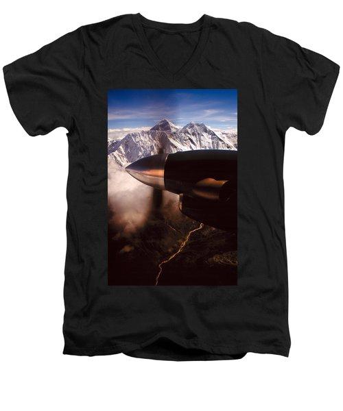Mt. Everest Men's V-Neck T-Shirt