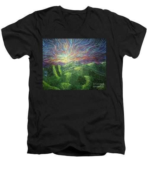 Mt. Mitchell  Men's V-Neck T-Shirt