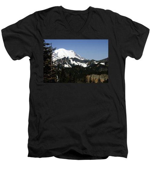 Mt Rainer From Wa-410 Men's V-Neck T-Shirt