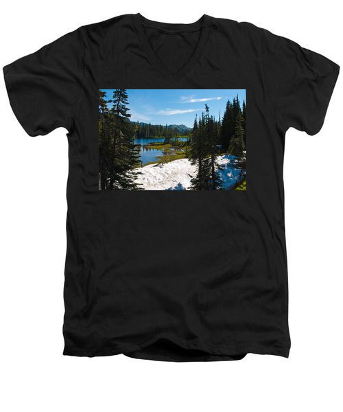 Mt. Rainier Wilderness Men's V-Neck T-Shirt by Tikvah's Hope
