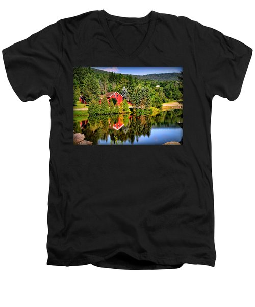 Mt. Snow In Summer Men's V-Neck T-Shirt