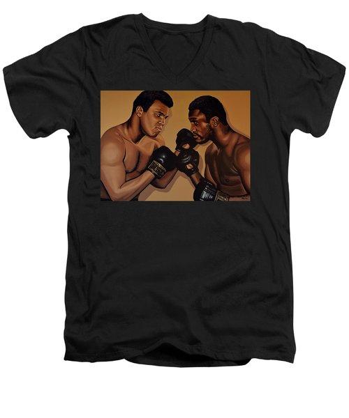 Muhammad Ali And Joe Frazier Men's V-Neck T-Shirt
