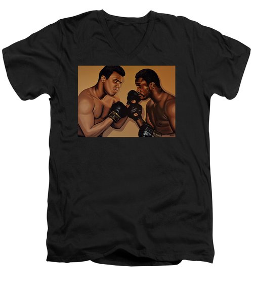 Muhammad Ali And Joe Frazier Men's V-Neck T-Shirt