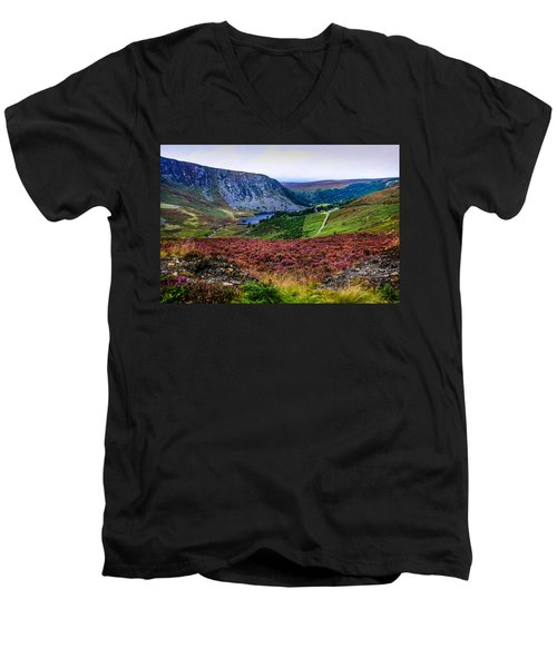 Multicolored Carpet Of Wicklow Hills. Ireland Men's V-Neck T-Shirt