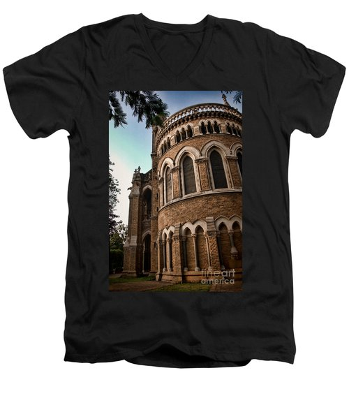 Mumbai University Men's V-Neck T-Shirt