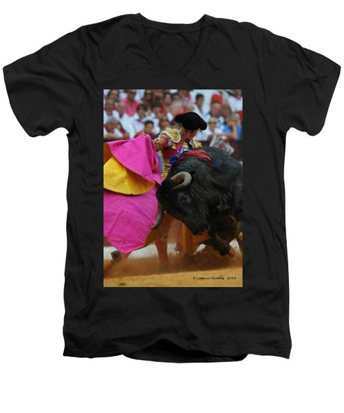 Mundo Torero Men's V-Neck T-Shirt by Bruce Nutting