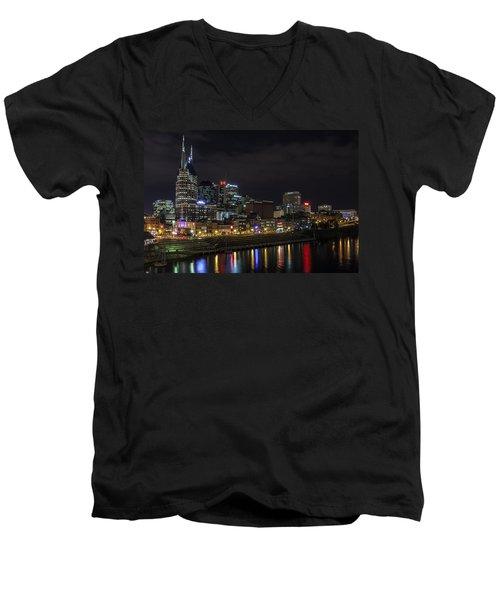 Music And Lights Men's V-Neck T-Shirt