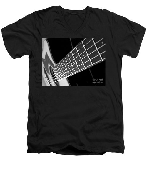 Men's V-Neck T-Shirt featuring the photograph Music To My Soul by Andrea Anderegg