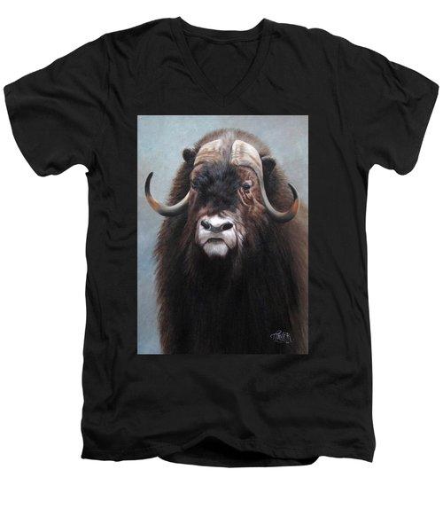 Musk Ox Men's V-Neck T-Shirt