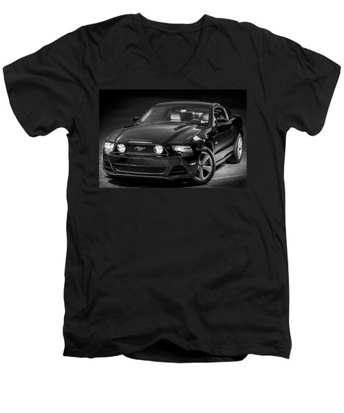 Mustang Gt Men's V-Neck T-Shirt