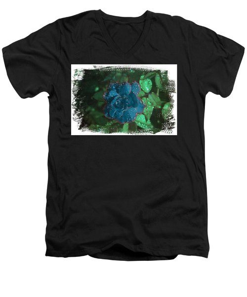 My Blue Rose Men's V-Neck T-Shirt