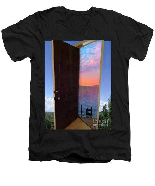 My Door To Success Men's V-Neck T-Shirt