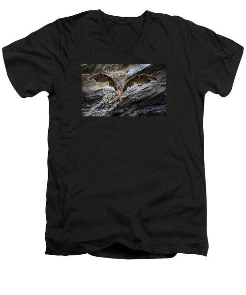 My Guardian Angel Men's V-Neck T-Shirt